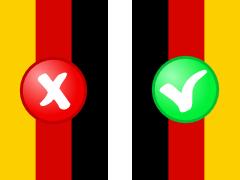 Deutschlandfahne richtig und falsch